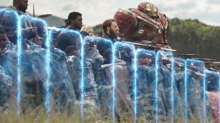 Avengers with shields