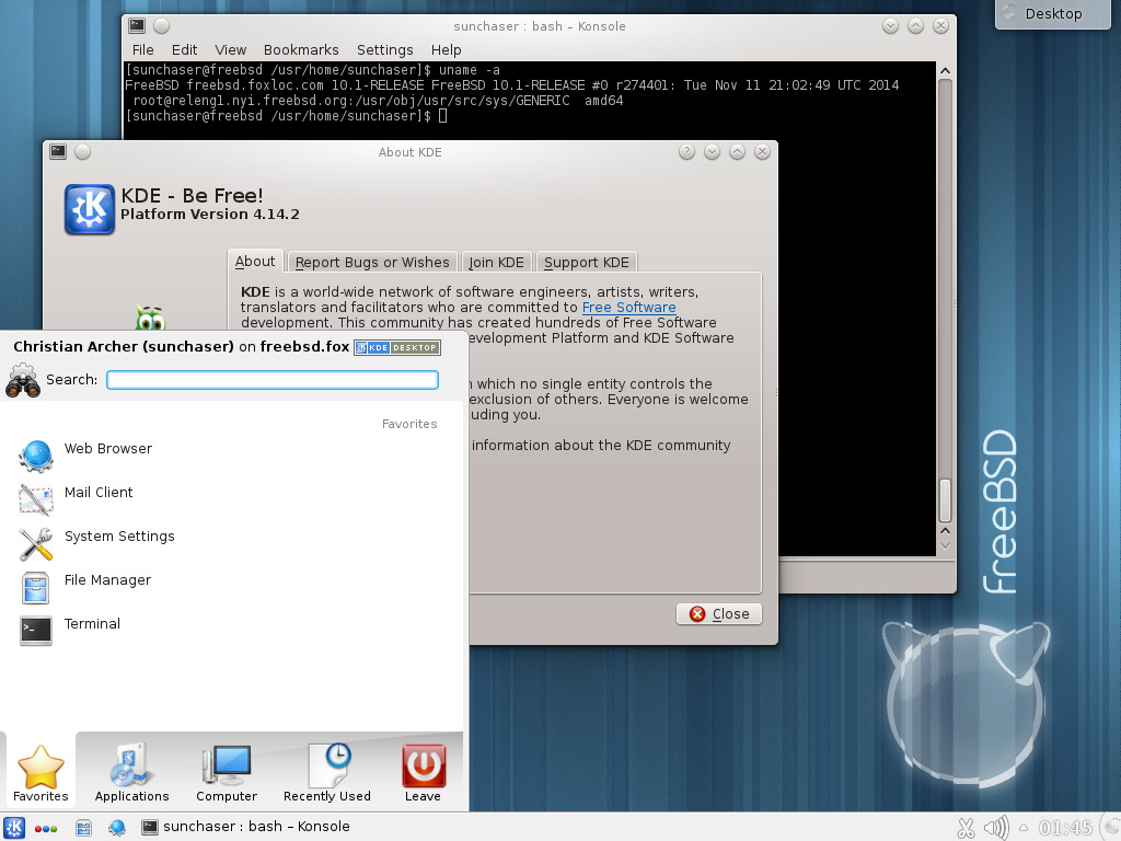 KDE on FreeBSD