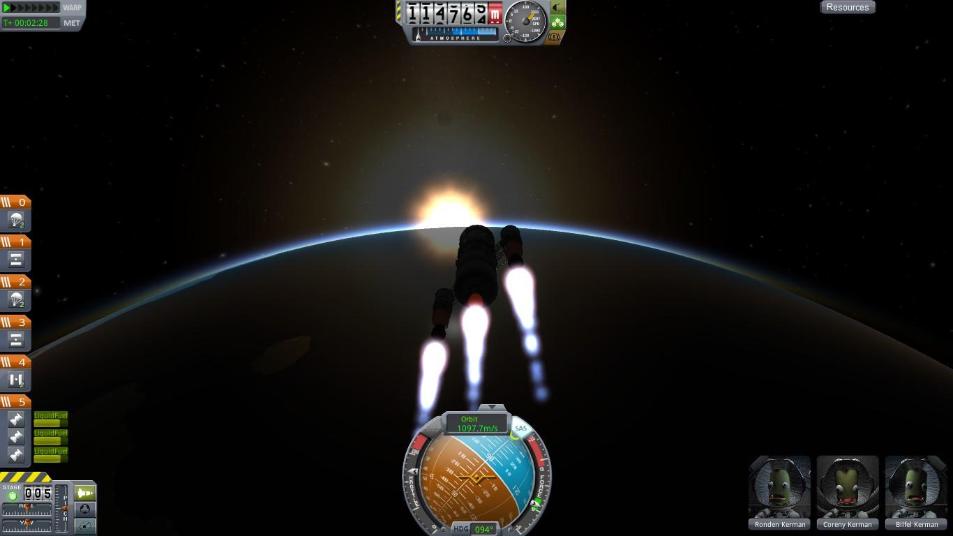 Выходим на заданную орбиту...